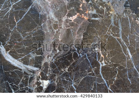 Abstract black and dark brown marble texture in natural patterned.