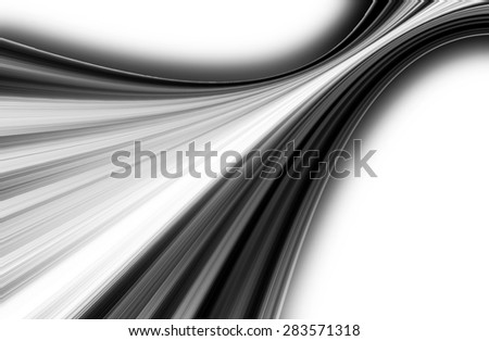 abstract black and white  background  and digital wave with motion blur