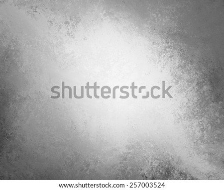 abstract black and white background design with white center and grunge border - stock photo