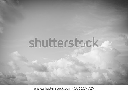 Abstract black and white clouds background