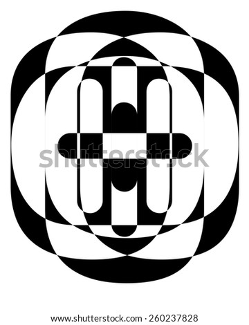 Abstract black and white design. - stock photo