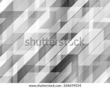 Abstract black and white diagonal stripes background with motion and blur effect - stock photo