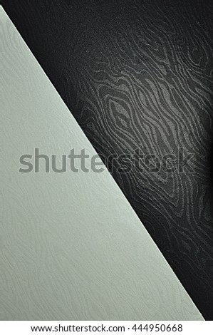 Abstract black and white pattern, located on a diagonal