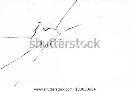 Abstract black and white pattern with perspective - stock photo