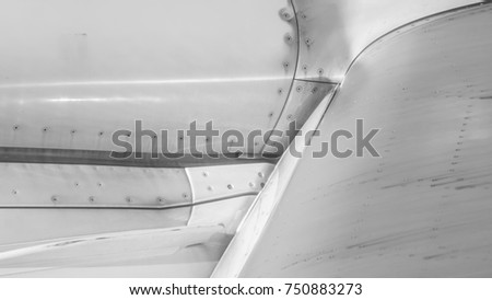 Abstract black and white texture of airplane.