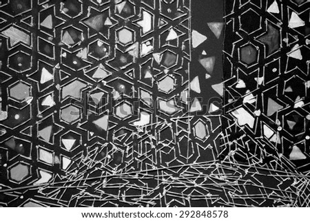 abstract black and white textured fabric - stock photo