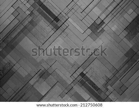 abstract black background faded gray geometric pattern of angles and lines, diagonal design elements, textured background  - stock photo