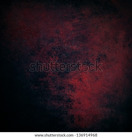 abstract black background red color splash of vintage grunge background texture old rough distressed sponged red paint on black wall for elegant brochure ad website design background poster cards, - stock photo