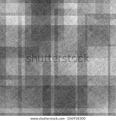 abstract black background white design with square rectangle lines in gray or monochrome vintage grunge background texture, plaid country design on paper for elegant brochure background or graphic art - stock photo