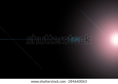 Abstract black background with beautiful lines and light colors for design work
