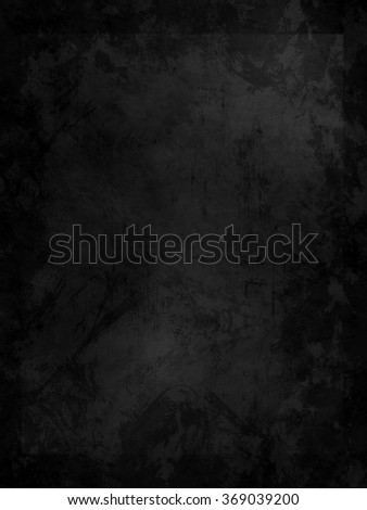 abstract black background with rough distressed aged texture - stock photo