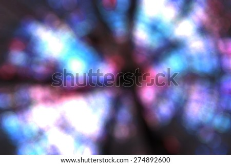abstract black bright swirl rainbow colorful circle bokeh background - stock photo