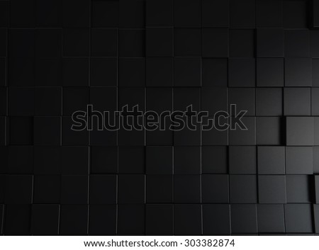 Abstract black 3d blocks background - stock photo