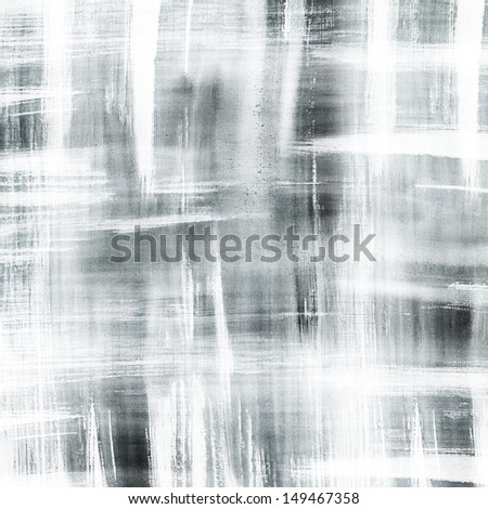 Abstract black ink painting on grunge paper texture  - stock photo