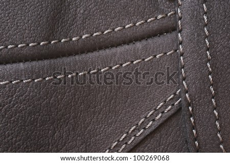 Abstract black leather background - stock photo