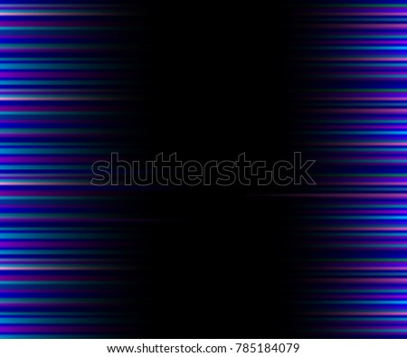 Abstract Black Neon Background With Vertical Pink, Purple Stripes