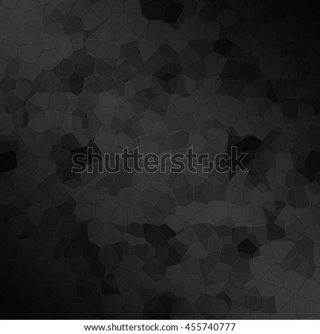 Abstract black polygonal mosaic background, creative design template