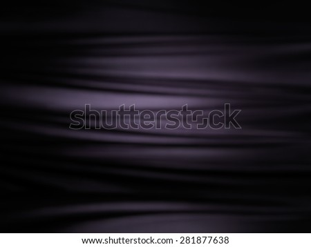 Abstract black shiny silky fabric folds background texture - stock photo