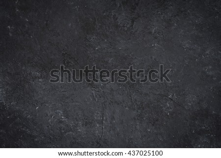 abstract black stone background, top view - stock photo