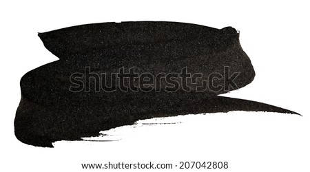 Abstract black watercolor on white background - stock photo