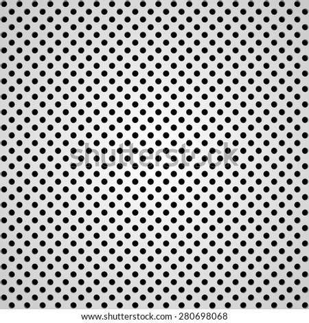 abstract black white metallic pattern with black metal texture on white background. raster illustration - stock photo