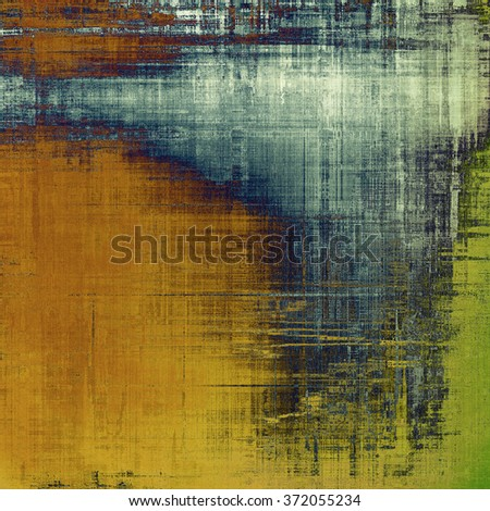 Abstract blank grunge background, old texture with stains and different color patterns: yellow (beige); brown; blue; green; gray - stock photo