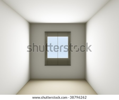 Abstract Blank Room with window