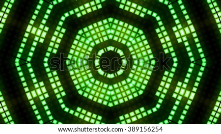 Abstract block led lights background - stock photo