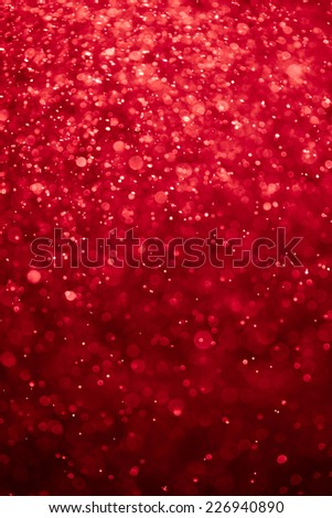 abstract bloody red background with bokeh particles - stock photo
