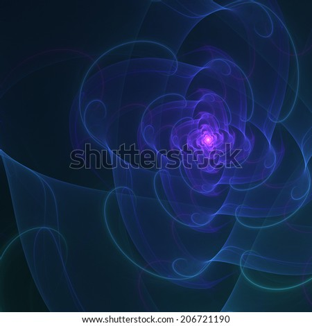 Abstract bloom in blue and violet colors - stock photo