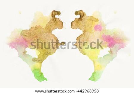 abstract blot. Rorschach test - stock photo