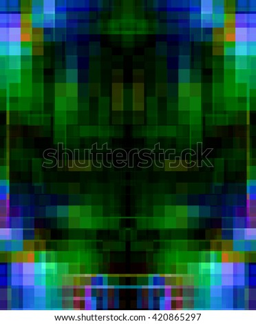 abstract blue and backdrop mosaic, fantasy background