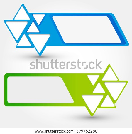 Abstract blue and green background with triangle - stock photo