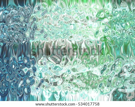 Abstract blue and green creative background illustration digital.