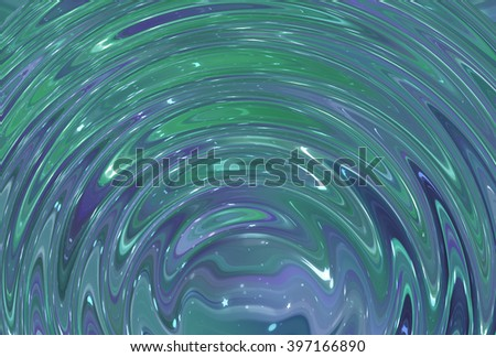 Abstract blue and green elegant background with glitter and waves