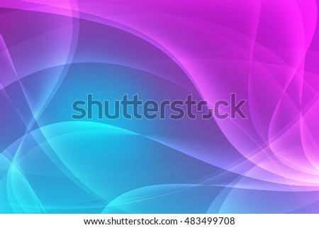 Abstract blue and pink background with smooth lines. Abstract background illustration
