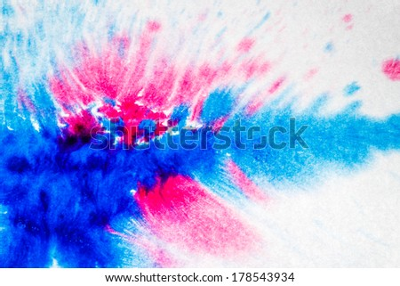 Abstract blue and pink watercolor background - stock photo