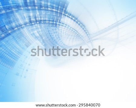 Abstract blue and white background design. Detailed computer graphics. - stock photo
