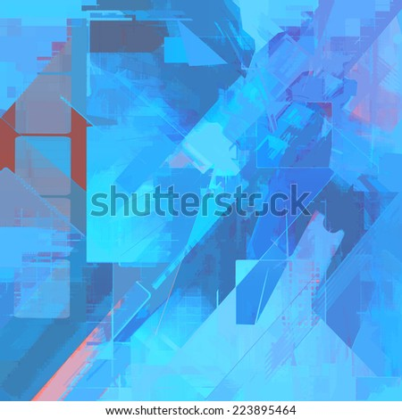 Abstract blue art background - stock photo