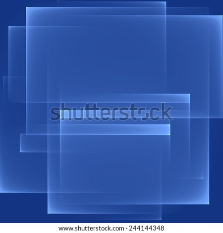Abstract blue background. Bright blue lines. Geometric pattern in blue colors. Digital art. - stock photo
