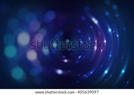 Abstract blue background defocused lights.