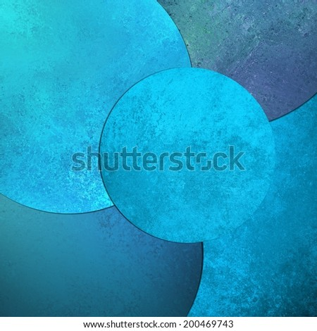 abstract blue background, layers of blue circle shapes in random artistic pattern composition, blue floating balls design