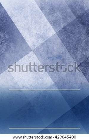 abstract blue background layout with triangle and square shapes in angled block pattern - stock photo