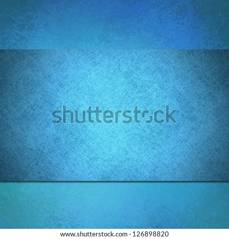 abstract blue background linen canvas parchment material illustration, stripe or ribbon layer, artsy website design template concept, vintage grunge background texture, smooth top for elegant accent - stock photo