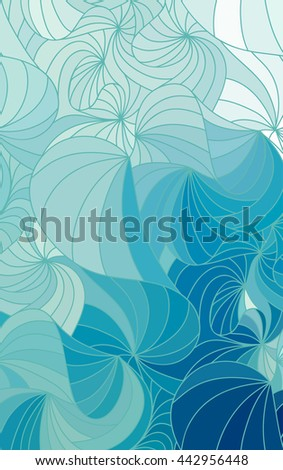 Abstract blue background of doodle drawn lines