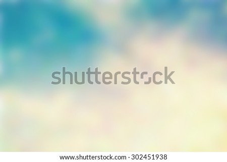 Abstract blue background of retro cloud and sky. - stock photo