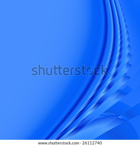 Abstract blue background of wavy flowing energy