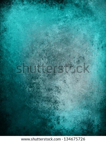 Abstract Blue Background Old Rustic Vintage Grunge Texture Country Sky Color Messy Dirty Stained