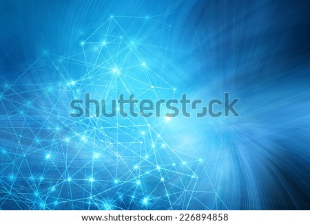 Abstract blue background. Technology background, from series best concept of global business - stock photo