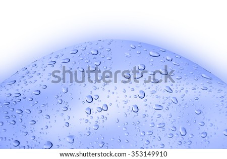 abstract  blue    background   with  drop water - stock photo